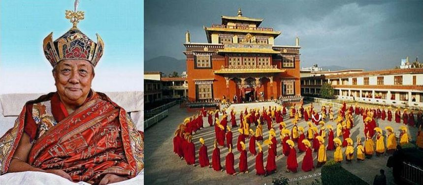 Dilgo Khyentse Rimpoche fondateur du monastere de Sechen Nepal
