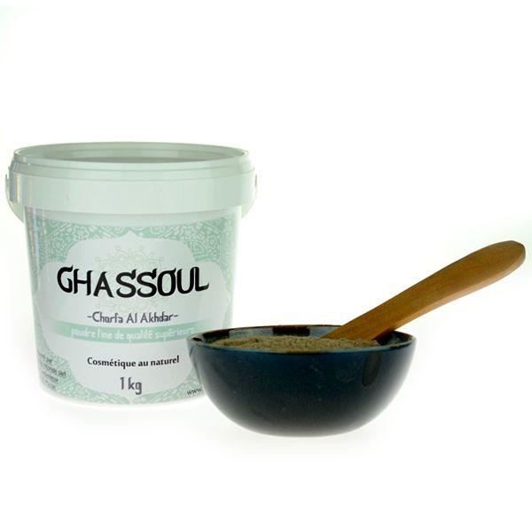 duo rhassoul en poudre 3 k g+ huile d'argan bio 100 ml idéal pour les cheveux